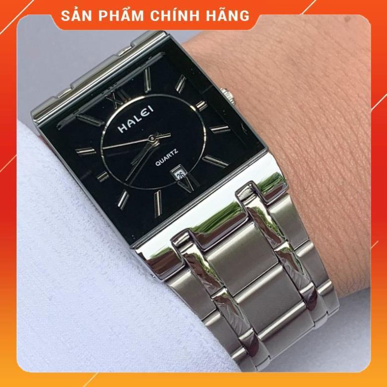 ⌛FREESHIP⏳ Đồng hồ nam halei mặt vuông cao cấp [shop bán đồng hồ giá rẻ]