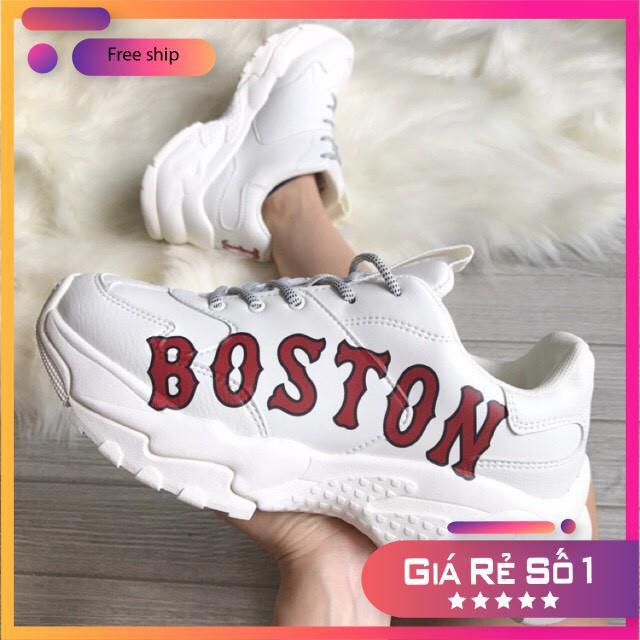Giày thể thao nữ độn đế, giày mlb boston, giày hàn quốc, giày tăng chiều cao