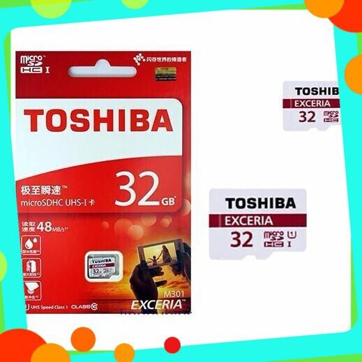 [GIẢM GIÁ SỐC] Thẻ nhớ Toshiba Micro SDHC Class 10 UHS-1 dung lượng 32GB (Đen)