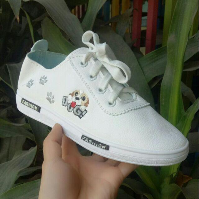 Giày Sneaker nữ thêu DOG dễ thương - 3458497 , 1280076796 , 322_1280076796 , 269000 , Giay-Sneaker-nu-theu-DOG-de-thuong-322_1280076796 , shopee.vn , Giày Sneaker nữ thêu DOG dễ thương