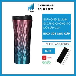 TẶNG BỘ ỐNG HÚT Bình giữ nhiệt inox 304 500ml KOSKO bình nước giữ nhiệt cốc giữ nhiệt ly giữ nhiệt
