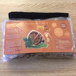 Combo 1 túi muối thảo dược Thái An 800G + 1 Đai quấn muối