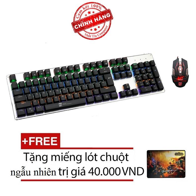Bộ bàn phím cơ và chuột LED chơi Game R8 G100 - G2 (Đen) + Tặng kèm lót chuột - Hãng phân phối chính - 2535705 , 412287662 , 322_412287662 , 1075000 , Bo-ban-phim-co-va-chuot-LED-choi-Game-R8-G100-G2-Den-Tang-kem-lot-chuot-Hang-phan-phoi-chinh-322_412287662 , shopee.vn , Bộ bàn phím cơ và chuột LED chơi Game R8 G100 - G2 (Đen) + Tặng kèm lót chuột - H