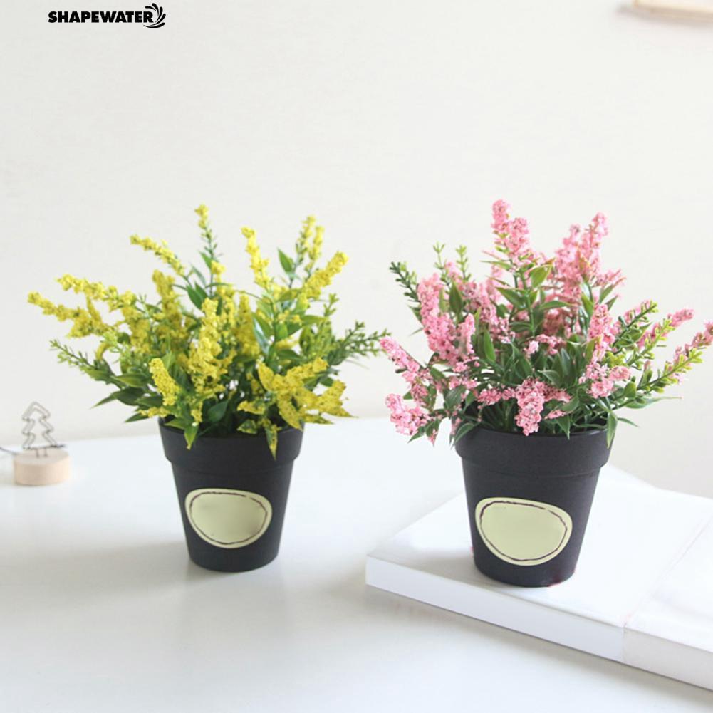 ☀1Pc Artificial Flower Lavender Pot Bonsai DIY Living Room Wedding