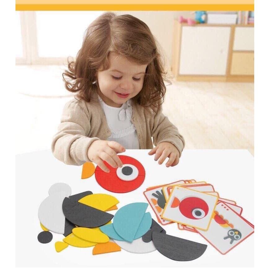 Bộ lắp ghép gỗ Montessori Fun Board trí tuệ