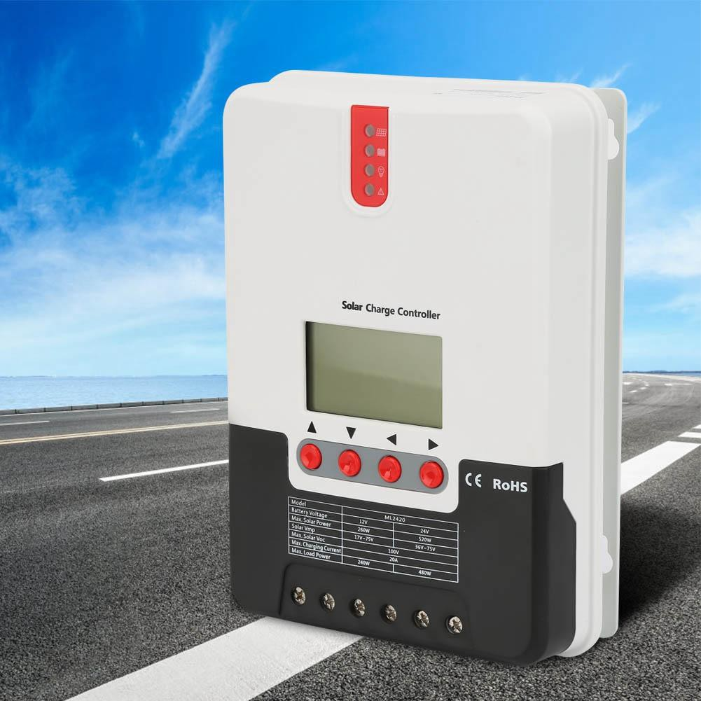 MPPT Solar charger Controller รุ่น ML2420 20A 12/24V Auto