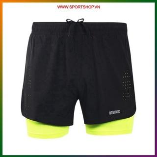 Quần chạy bộ nam ARSUXEO MS01, quần short thể thao 2 lớp (boxer) có túi khóa kéo sau, siêu mềm mại, thoáng khí