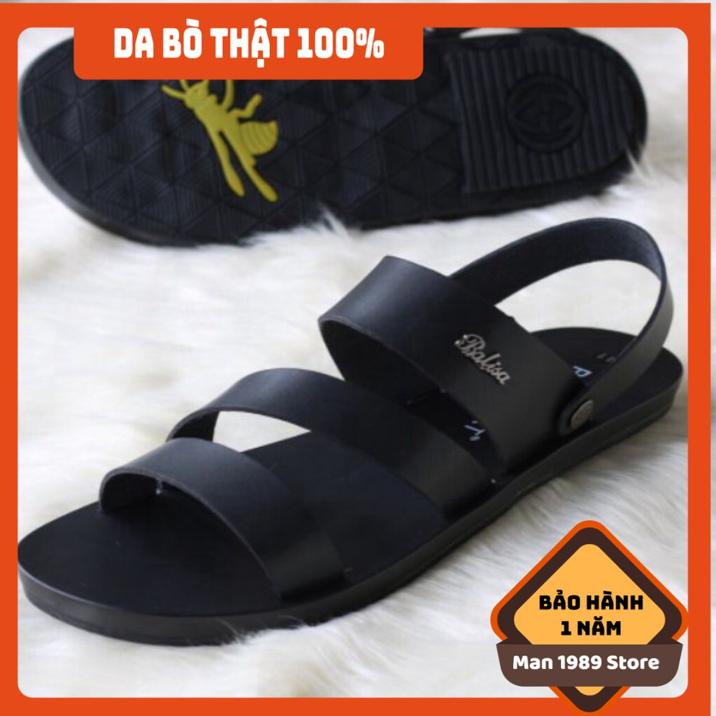 [FREESHIP - DA THẬT] -  Sandal nam da thật trẻ trung, chất lượng tuyệt đối - Bảo hành 6 tháng - GDSH39