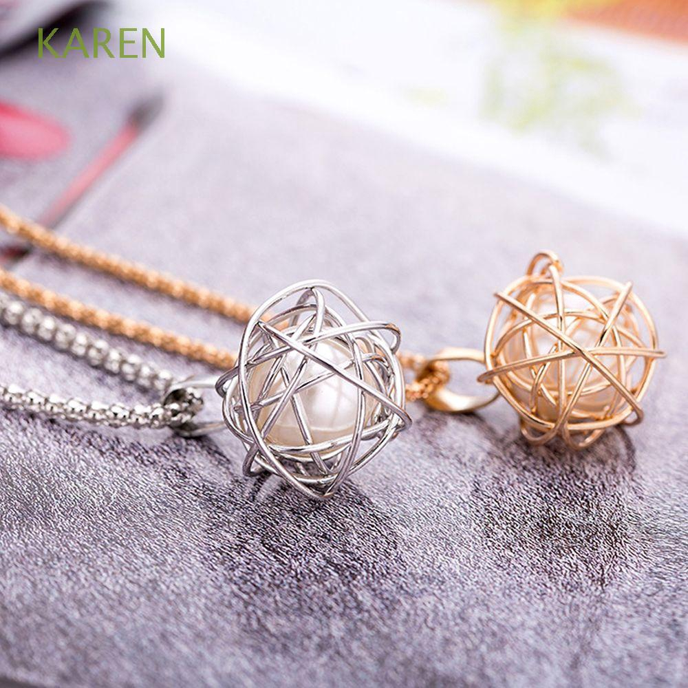 Jewelry Trendy Alloy Metal Accessories Geometry Sweater Necklace