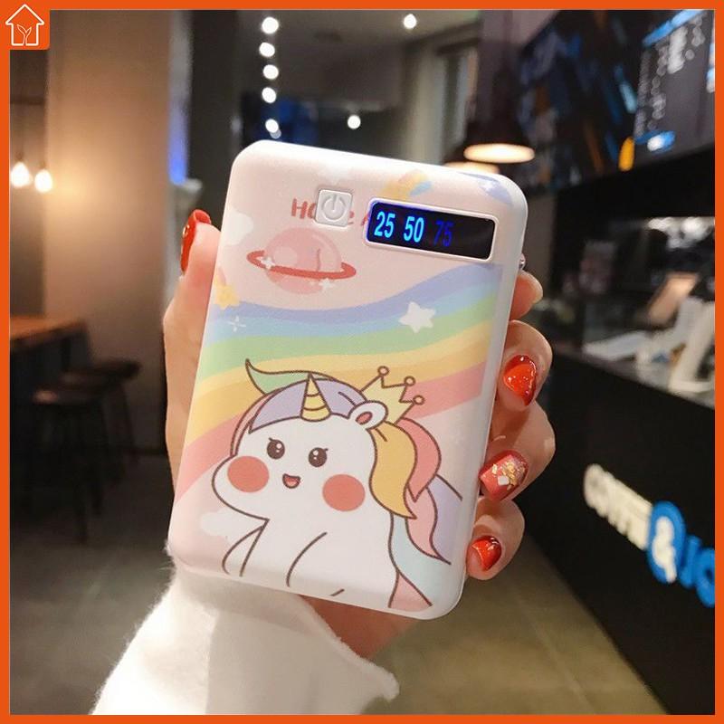 Sạc dự phòng mini 6000Ma thiết kế họa tiết hoạt hình đáng yêu cho điện thoại vivo Huawei oppo