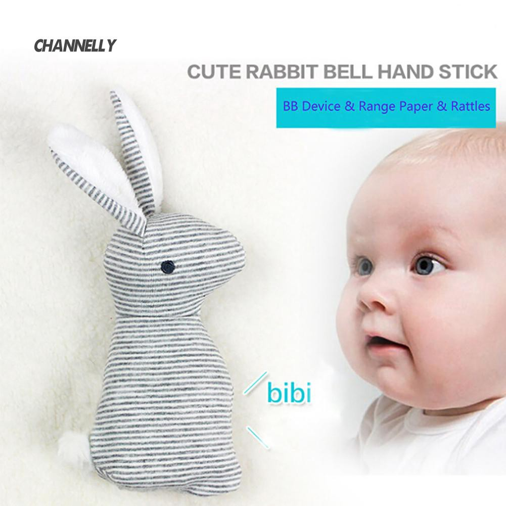 ■Cy Baby Rattle Animal Rabbit Infant Hand Bell Plush Kid Toy With BB Sound