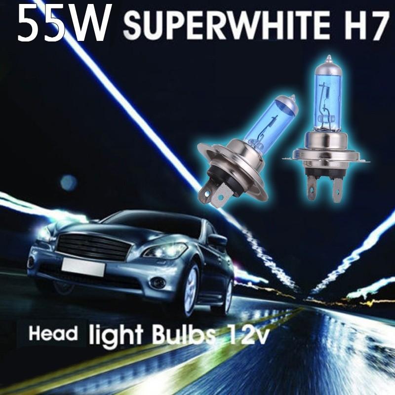 2pcs H7 Car Xenon Gas Headlight White Light Lamp