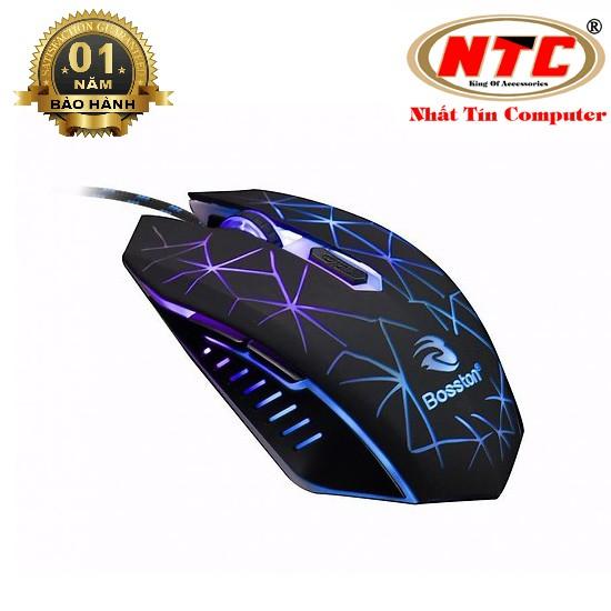 Chuột Gaming 6D Bosston R30B led đa màu