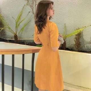 Đầm bo eo nịt giả Đầm dáng xòe nhẹ nhàng thanh lịch đẹp đi