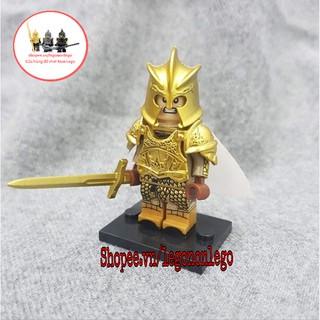 Minifigure Lính trung cổ giáp vàng bóng Game of Thrones nhân vật Preston Greenfield XP hãng Koruit