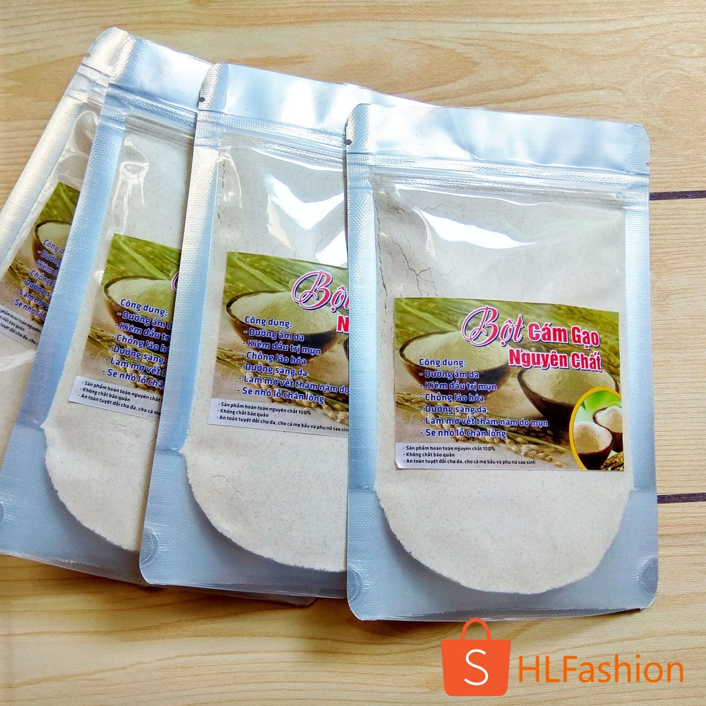 [Combo 5 gói] Cám Gạo 100Gr Nguyên Chất 100% không chất bảo quản