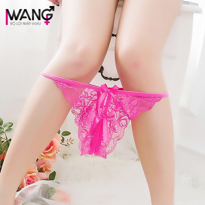 [CÓ SẴN - CHUẨN HÌNH] Quần chip ren nữ lọt khe xẻ đáy Sexy - quần lót nữ gợi cảm WQ6813