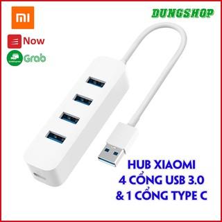 Hub 3.0 XIAOMI 4 CỔNG USB và 1 cổng C - lên tới 350mb/s