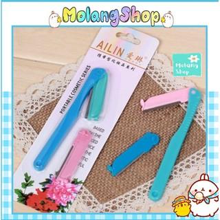 [Bộ 2 lưỡi] Dao cạo lông mày Ailin Sắc Bén - Dụng cụ tỉa lông mày làm đẹp Molangshop thumbnail