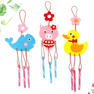 🍍SALE🍍Children's DIY wind chimes non-woven hand-made cute card ventilation bell gift