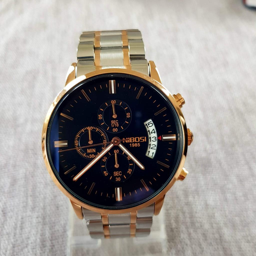 [Tặng vòng tay]Đồng hồ nam NIBOSI chính hãng NI2309.06S Fullbox dây đeo hợp kim sang