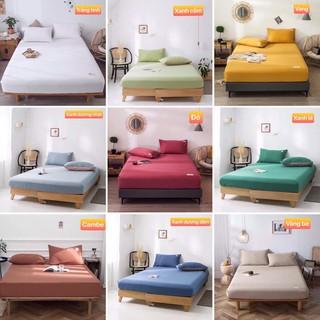 Bộ ga giường và vỏ gối cotton tici DAA bedding, drap nệm Hàn quốc cao cấp đủ size trải nệm 1m, 1m2, 1m4, 1m6, 1m8, 2m.
