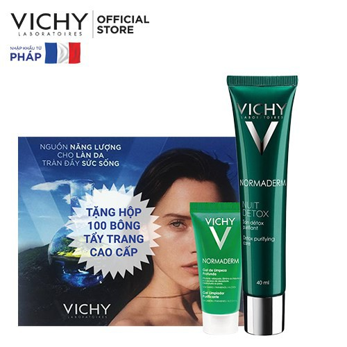 Bộ sản phẩm làm sạch, thanh lọc độc tố cho da dầu Vichy Normaderm Night Detox 40ml _ TUVC0002CB - 3427782 , 1335777244 , 322_1335777244 , 509000 , Bo-san-pham-lam-sach-thanh-loc-doc-to-cho-da-dau-Vichy-Normaderm-Night-Detox-40ml-_-TUVC0002CB-322_1335777244 , shopee.vn , Bộ sản phẩm làm sạch, thanh lọc độc tố cho da dầu Vichy Normaderm Night Detox