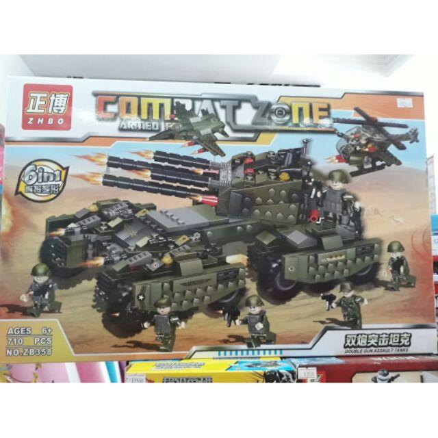 Lego lắp ghép xe quân đội