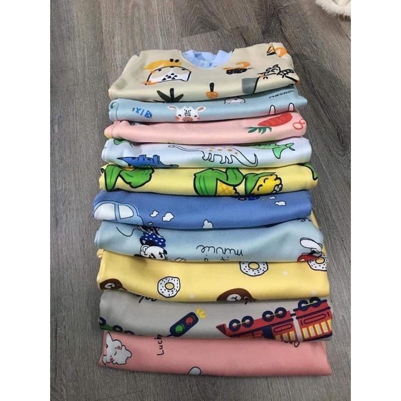 Bộ nỉ bông chui họa tiết cho bé 6-16kg QATE493, quần áo trẻ em