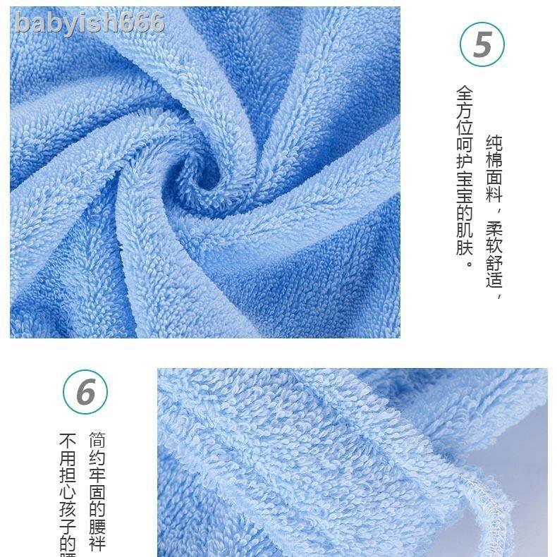 ✵∋☃Áo choàng tắm Cotton dày dặn họa tiết hoạt hình xinh xắn dành cho bé