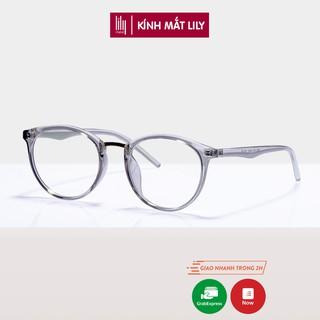 Gọng kính cận nữ Lilyeyewear nhựa dẻo, kiểu dáng mắt tròn, đa dạng màu sắc - 208