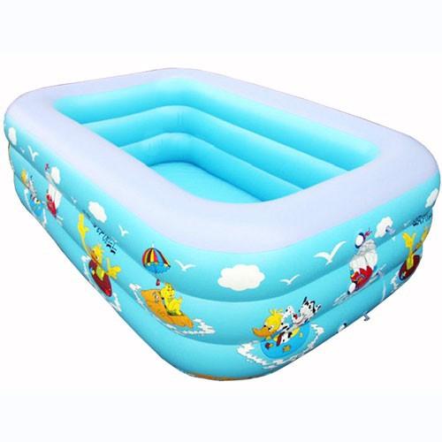 Bể bơi 1m5 đáy chống trơn trượt cho bé yêu xanh dương (FREESHIP 99K)