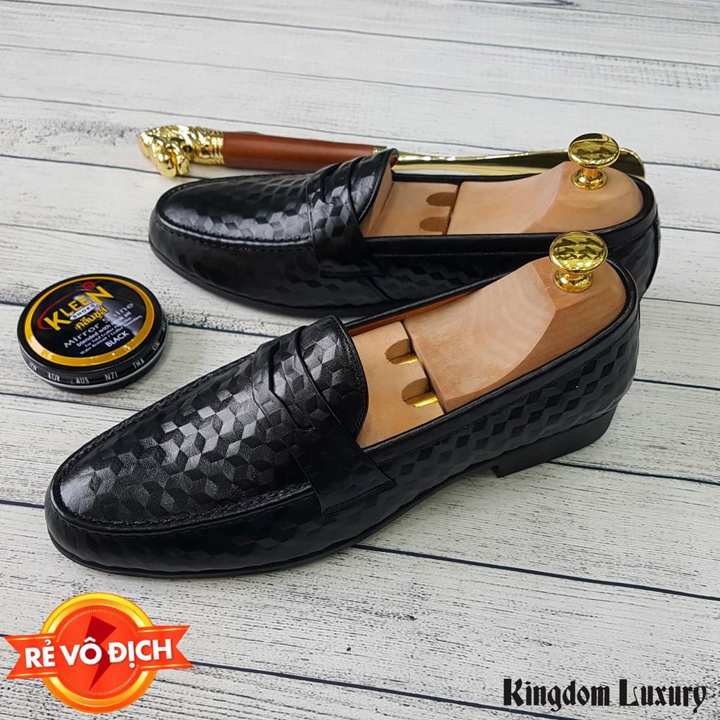 [FREESHIP] Giày Lười Nam Da Bò Cao Cấp Giày Lười Công Sở Da Thật 100% - BH