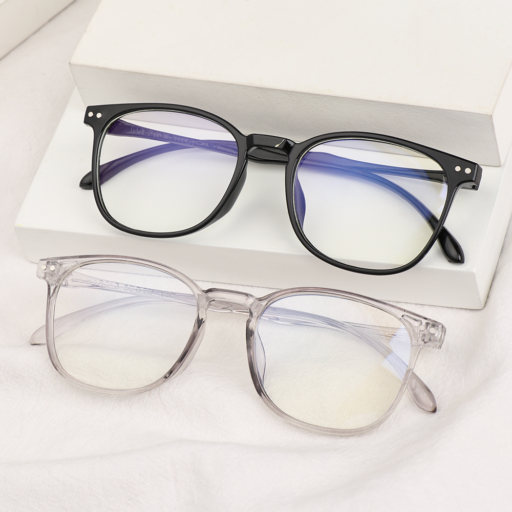 YVETTE Fashion Optical Eyewear Vision Care Computer Goggles Anti-blue Light Glasses Women Oversized Classic Retro Eyeglasses