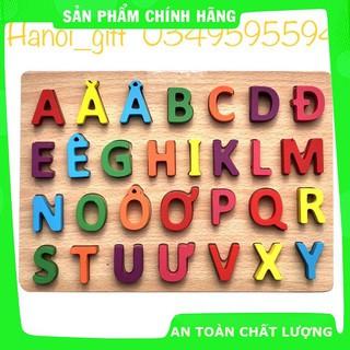 [Hỗ trợ giá] Bảng chữ gỗ nổi- chữ cái in hoa Tiếng Việt_Hàng tốt