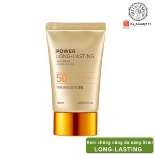 (AUTH) Kem chống nắng đa chức năng Natural Sun Eco Power Long-Lasting Sun Cream SPF50+PA The Face Shop thumbnail