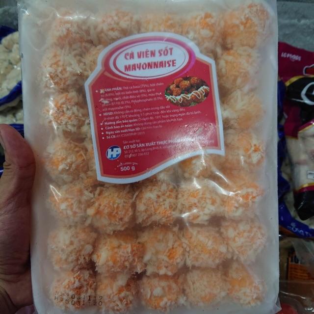 [Mã GROSALEHOT giảm 8% đơn 250K] Cá viên sốt mayonnaise 500g 35v ( nhận giao hàng khu vực hcm, khách tỉnh mua sll)