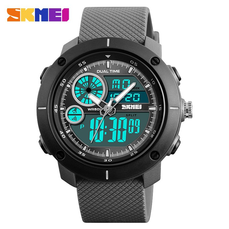 Đồng hồ điện tử SKMEI 1361 thiết kế thể thao chống nước độ sâu 50m thời trang cho nam