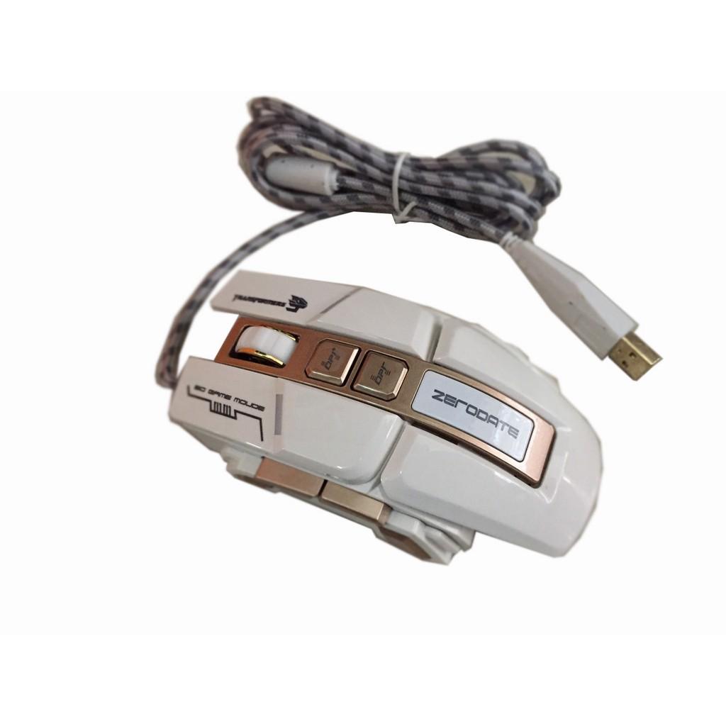 [Mã 267ELSALE hoàn 7% đơn 300K] cHUỘT MÁY TÍNH CÓ DÂY ZERODATE G7 USB CÓ ĐÈN LED MÀU ĐEN