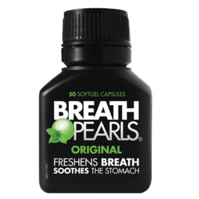 Kẹo Bạc Hà Breath Pearls Origina Hộp 50 viên