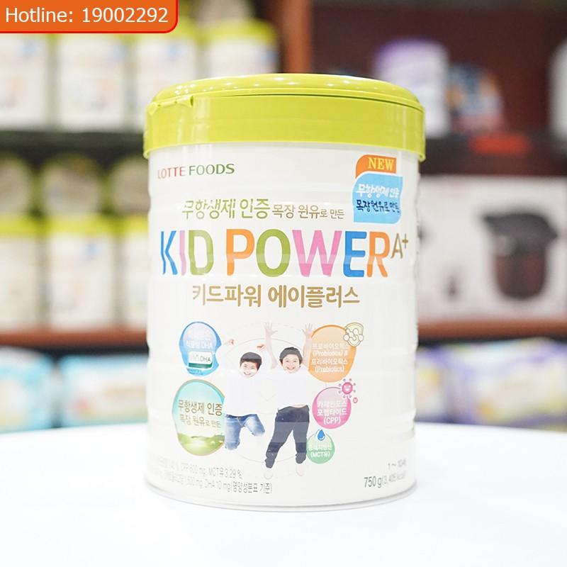 Sữa phát triển chiều cao và tăng cân Kid Power 750g Korea