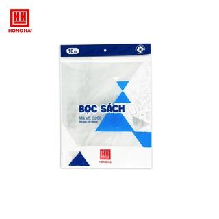 Hình ảnh Bọc sách nylon Hồng Hà (190x265mm) 3269 tập 10 chiếc-0