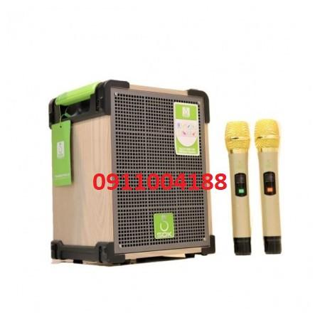 Loa kéo di động SOK NE-318 Hàng chính hãng, Loa Mini hát karaoke gia đình âm thanh cực hay+ Tặng 2 micro hút âm