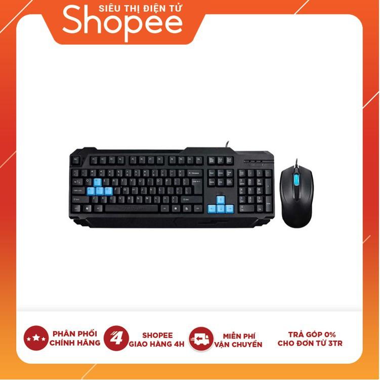 [Nhập ELCLMAY hoàn 30K xu đơn từ 200K]Bộ bàn phím + chuột máy tính quang có dây Ensoho S50 Giá chỉ 150.000₫
