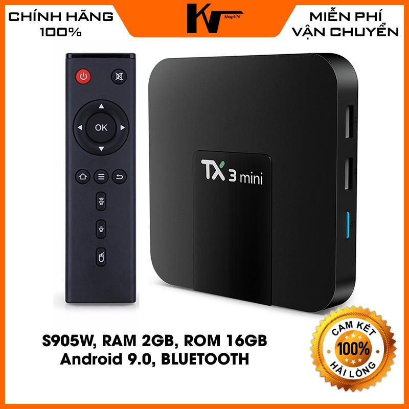 Đầu Android Box TX3 Mini, Ram 2G, Bộ nhớ trong 16GB, Android 9.0, có Bluetooth