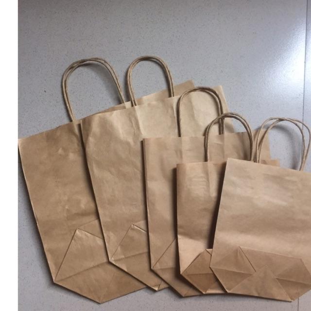 100 túi giấy có quai đủ size từ size 1-5