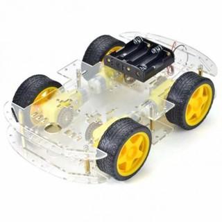 COMBO Động Cơ Vàng Giảm Tốc Và Bánh Xe Cao Su Robot Mô Hình