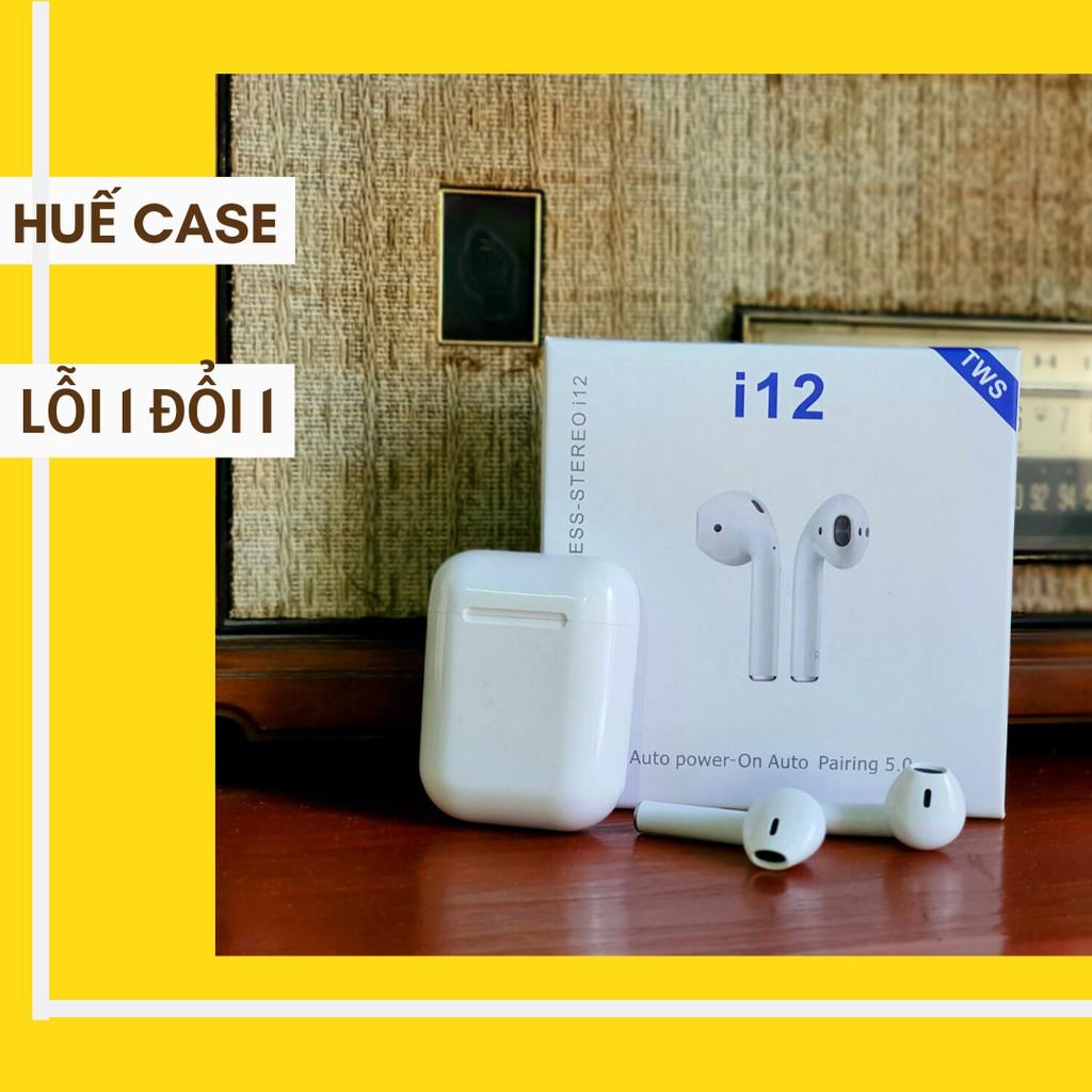 Tai nghe bluetooth I12 [ Huế Case ] Tai nghe blutooth không dây cảm ứng chạm thời thượng chất lượng tốt giá siêu rẻ