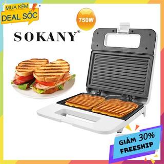 Máy kẹp nướng bánh mì, Bánh mỳ kẹp sandwich, Hotdog SOKANY[BH 12 Tháng] thumbnail