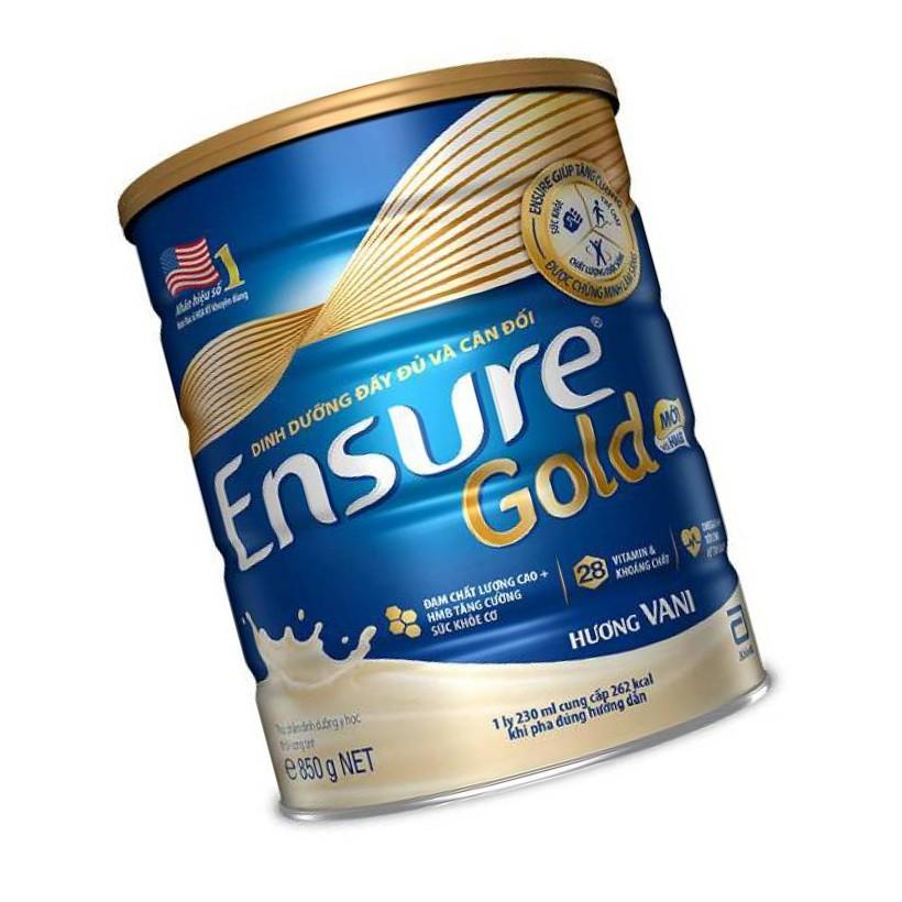 Bộ 03 lon Sữa bột Ensure Gold Abbott (HMB) 850g/lon